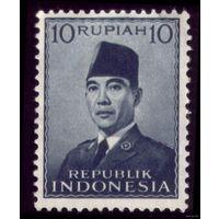 1 марка 1951 год Индонезия Сукарно 87