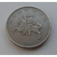 1 лит Литва 2001 г.в. - из мешка