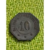 Нотгельды Пирмасенс 10 пфенниг 1917 г  ( монета 6 граней )