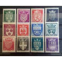 Франция фонд помощи геральдика 1942 Sc#B135-146  Cv40+$