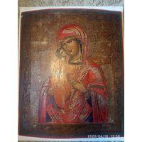 Икона Божией Матери Феодоровскя 19 век. 37 на 44 см.