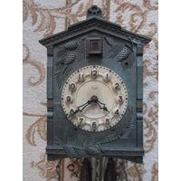 Часы настенные Маяк с кукушкой гиревые шишки СССР Сердобский ЧЗ рабочие