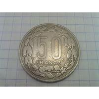 Центральная Африка (Конго, Габон, Чад) 50 франков 1963