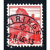 13: Швейцария, почтовая марка, 1936 год, номинал 20с, SG#375A
