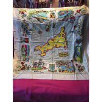 Платок винтаж 80-е гг Англия Корнуолл Cornwall  90 см х 90 см