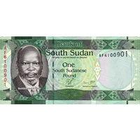 Южный Судан 1 фунт 2015 год UNC (выведен из оборота. Заменен монетой 1 фунт)
