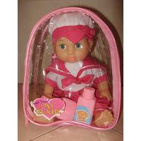 """Пупс/кукла резиновая мой малыш 35см """"морячок"""" в рюкзаке новая в наличии"""