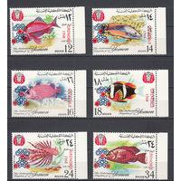 """Спорт. Олимпийские игры """"Гренобль 1968"""". Йемен (Королевство). 1968. 6 марок с перевернутыми надпечатками. Michel N 441-446 (20.0 е)"""