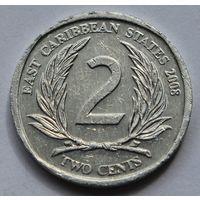 Восточные Карибы 2 цента, 2008 г.