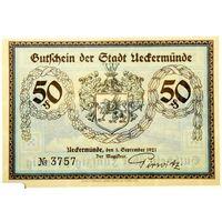 РАСПРОДАЖА!!! - ГЕРМАНИЯ ИККЕРМЮНДЕ (МЕКЛЕНБУРГ-Передняя ПОМЕРАНИЯ) 50 пфеннигов 1921 год - UNC!