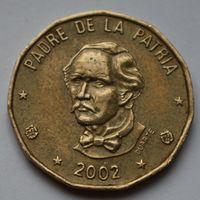 Доминикана, 1 песо 2002 г.