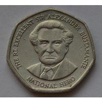 Ямайка 1 доллар, 1996 г. (Форма 7-угольник).