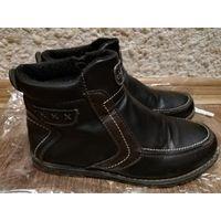 Ботинки деми на байке для мальчика, стелька 23 см