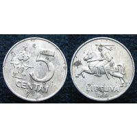 W: Литва 5 центов 1991 (544)