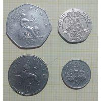 Великобритания Набор 50, 20, 10, 5 Пенсов