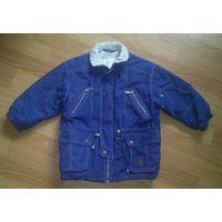 Курточка парка детская синяя деми