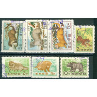 КНДР 1962 Фауна пушные звери серия 7м гаш