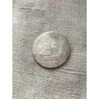 Датская западная (Вест) Индия 20 центов 1878 г.