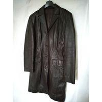 Женский кожаный удлиненный пиджак немецкой фирмы STEILMAN.Размер 46