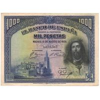 Испания 1000 песет 1928 года. Редкая!