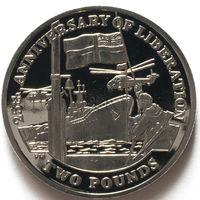 Южная Георгия и Южные Сендвичевы острова 2 фунта 2007 года. 25 лет Освобождению
