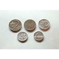 Чехия, сборка: 10,20,50 геллеров, 1,2 кроны (после 1993 г.)