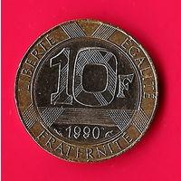 49-28 Франция, 10 франков 1990 г.