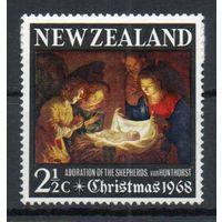 Рождество Новая Зеландия 1968 год серия из 1 марки