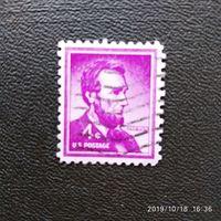 Марка США 1954 год. Abraham Lincoln
