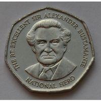 Ямайка 1 доллар, 2003 г. (Форма 7-угольник).