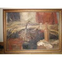 Картина, холст, масло, в раме, размер 112 см на 87 см