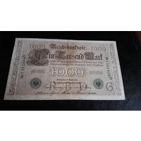 1000 марок 1910 г зеленая печать