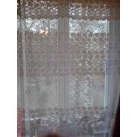 Занавеска, штора, тюль. Занавеси тюлевые на окно размер  230*370