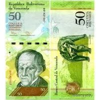 Венесуэла  50  боливаров  образца 2007 года  UNC