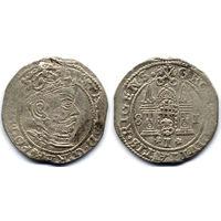 Грош 1581, Стефан Баторий, Рига. Большая голова на аверсе - более редкий вариант, R1
