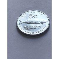 5 центов 2000 г., Намибия