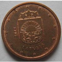 Латвия 1 евроцент 2014 г.