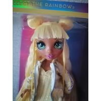 Новая оригинальная кукла в желтом Rainbow High Sunny