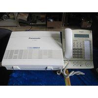 Усовершенственная гибридная система АТС Panasonic KX-TEM824RU с системным телефоном KX-T7630.