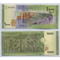 Распродажа коллекции. Сирия. 1 000 фунтов 2013 года (P-116 - 2009-2019 Issue)