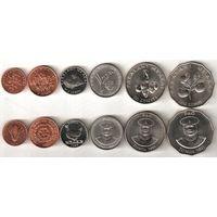 Тонга набор 6 монет 1981-2011 UNC