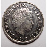 Каймановы острова.25 центов 1999г.
