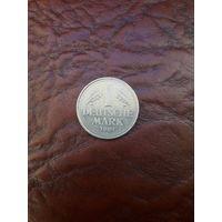 ГЕРМАНИЯ 1 марка 1991 год с рубля