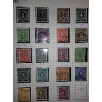 Стандарт Совместная Советская зона Оккупации 1946 Германия серия без одной марки. Есть повторы.