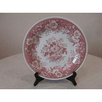 Блюдо розовое Balmoral изготовитель Villeroy & Boch Германия диаметр 26.5 см.