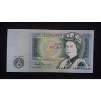 1 фунт 1981-1987 годов. Великобритания. UNC. Распродажа.