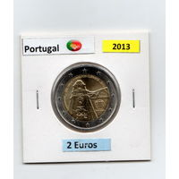 2 евро Португалия  2013 250 лет церкви Клеригуш