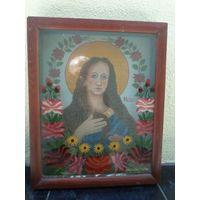 Св. Мария Магдалина. Католическая икона в киоте 43*35*5 см.
