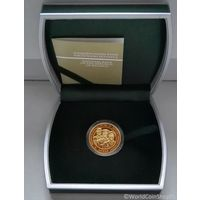 Футляр для монеты (50 руб., Au) D-32.6 mm зеленый