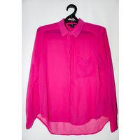 Новая розовая блузка,без дефектов,сзади удлиненная,р-р 44-48,грудь свободная до 106